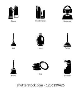 Purification icons set. Simple set of 9 purification icons for web isolated on white background
