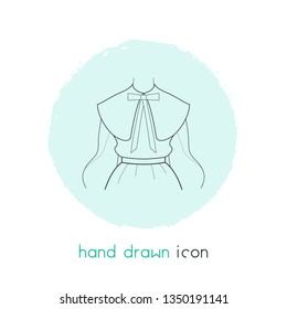 Puritan collar icon line element.  illustration of puritan collar icon line isolated on clean background for your web mobile app logo design.