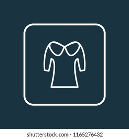 Puritan collar icon line symbol. Premium quality isolated fashion element in trendy style.