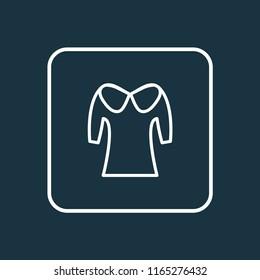 Puritan collar icon line symbol. Premium quality isolated fashion element in trendy style.