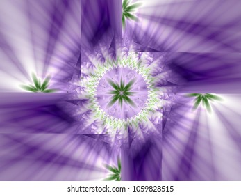 purple abstract floral shape circle
