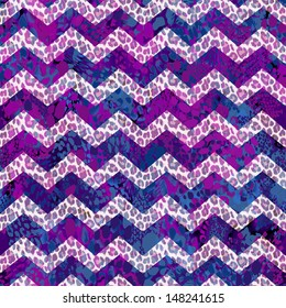 purple animal zigzag abstract seamless vector