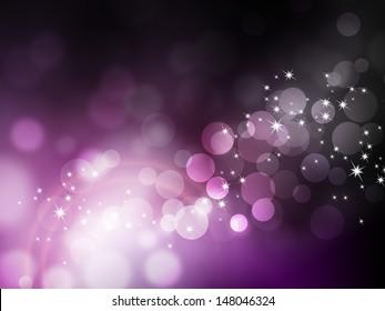 Purple background - abstract festive bokeh pattern