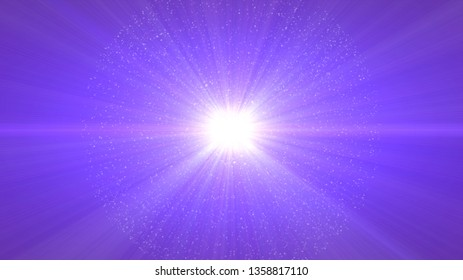 purple background, digital signatures with beautiful explosion and areas with deep particles in light lines