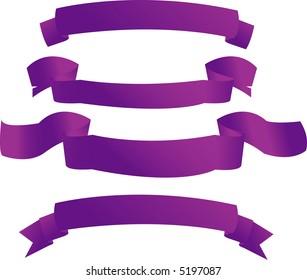 Purple banners