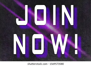 """""""Join Now!"""" Purple and black illustration"""