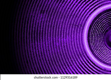 Purple and black music speaker sound waves background