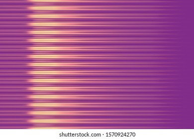 Purple blurred stripes with yellow glowing highlights background