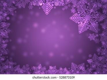 purple christmas frame.