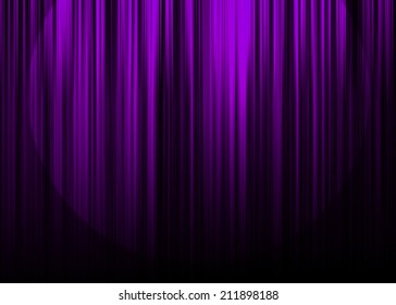 Purple curtain stage with spot light background