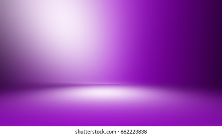 Purple  empty room studio gradient used for background and display your product