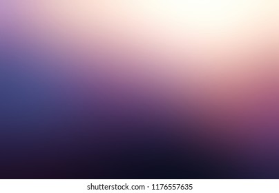 Purple empty space. Mystery night sky defocused pattern. Black, lilac, blue, violet, white gradient background. Nature silhouette abstract texture. Dusk blurred illustration.