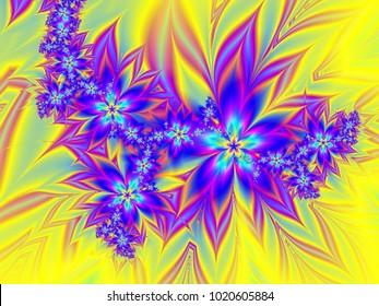 Purple exotic fractal flower