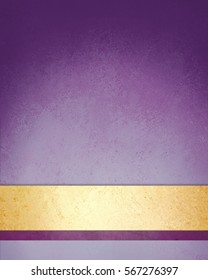 purple and gold background with fancy yellow and purple striped label or banner on bottom border with vintage texture and dark shadow