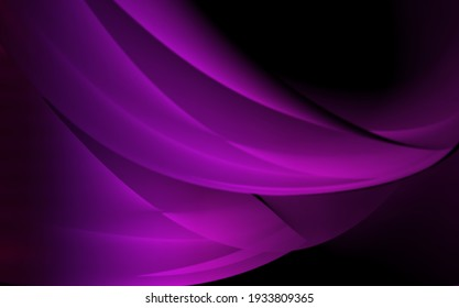 Purple gradient background with wavy shaded lines.