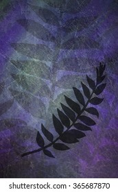 Purple Grunge with Foliage illustration is a beautiful design of multiple textures overlays with a variety of purple and teal shades of color.