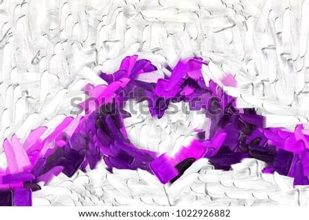 Purple Handshaped Heart Symbol Love You Stock Illustration