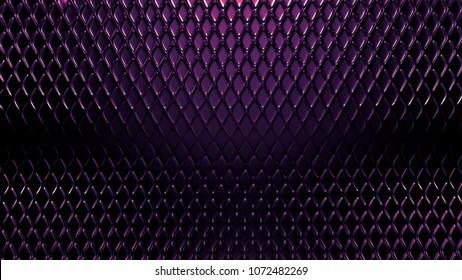 Purple metal industrial grunge background. 3d illustration, 3d rendering.