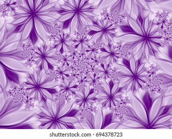 Purple modern abstract flowers