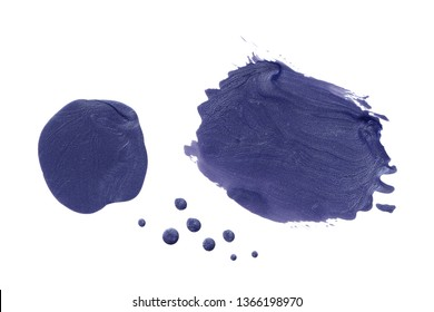 Purple paint, polish, construction and finishing varnish pearl, glitter brush shapes and drops. Universal elements for design, flyers, cards, branding and digital scrapbooking.