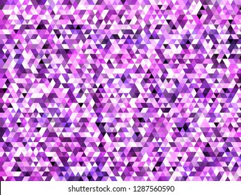 Purple and pink colorful modern geometric abstract design in shades of pink and purple with triangular shapes