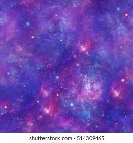 Purple Space Galaxy Stars Print  Seamless Pattern  Seamless Pattern