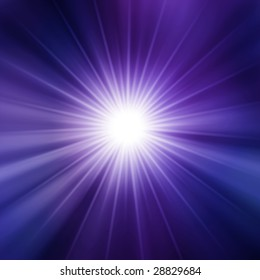 Purple star burst background