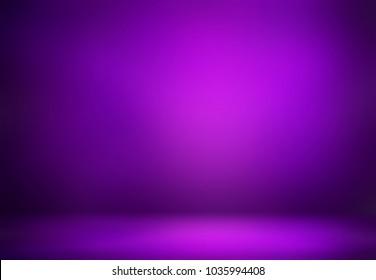 Purple studio 3d illustration design. Room empty background. Simple defocus template interior. Luxury abstract texture. Elite blurry illustration.