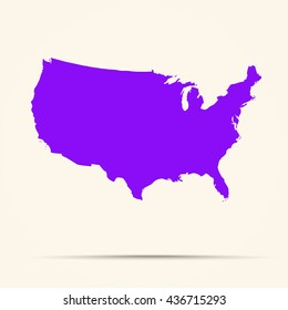 Purple United States Map Illustration Stock Vector Royalty Free