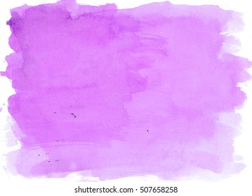 Purple Violet watercolor background, luscious palette. Abstract canvas with paper texture.