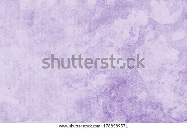 Purple watercolor background, old vintage texture with paint drips and painted grunge stains in pastel lavender or lilac purple colors