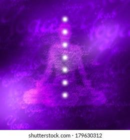 purple yoga chakra color concept - 7 of 7