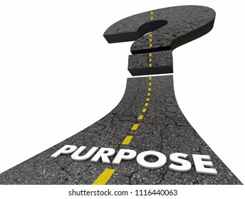 Purpose Road Question Mark Uncertain Unsure 3d Render Illustration