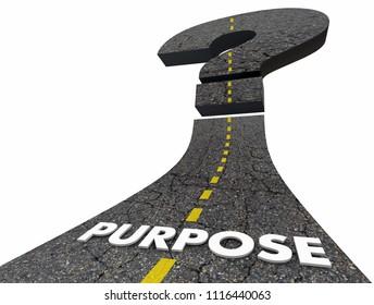 Purpose Road Question Mark Uncertain Unsure 3d Render Illustration
