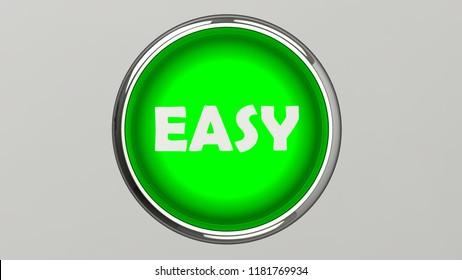 Push button 3D rendering illustration easy