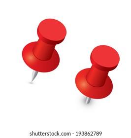 red push office pin push pin のベクター画像素材 ロイヤリティフリー