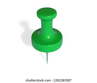 Push Pin 3D Rendering