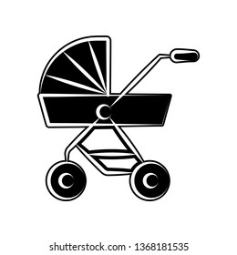 Pushchair of baby icon. Element of maternity for mobile concept and web apps icon. Glyph, flat icon for website design and development, app development
