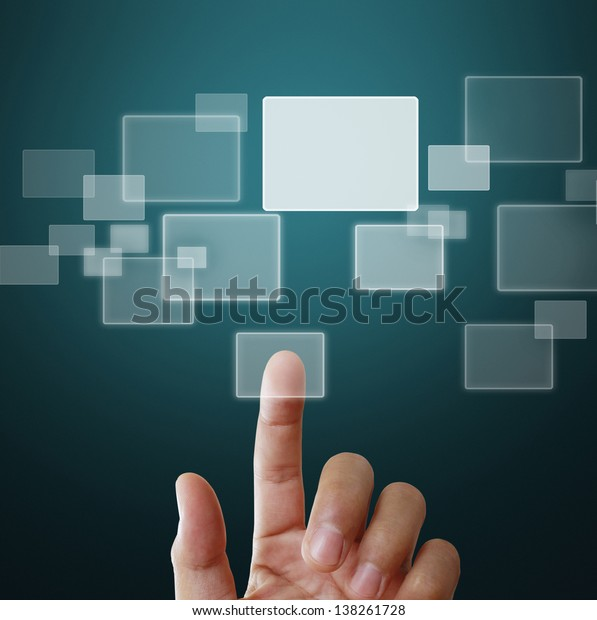 pushing a touch screen interface