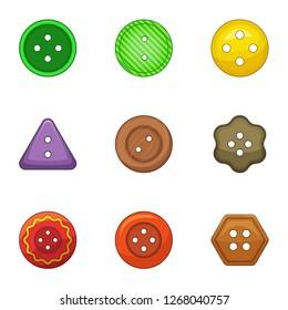 Pushpin icons set. Cartoon set of 9 pushpin icons for web isolated on white background