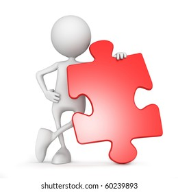 Puzzle. 3d image isolated on white background.
