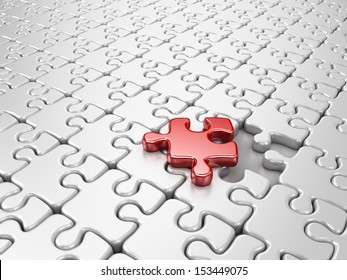 Puzzle 3D. Innovate business concept
