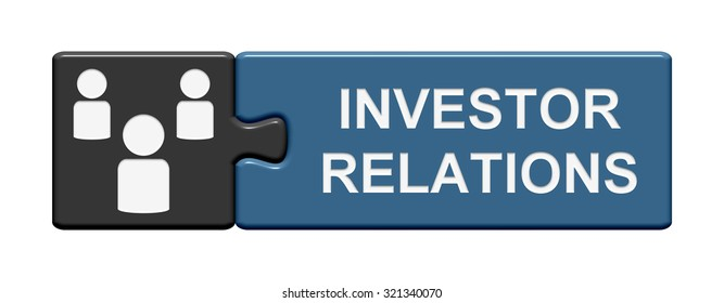Puzzle Button with two pieces is showing investor relations