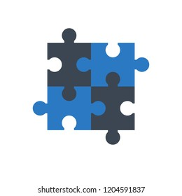 Puzzle icon. Flat related icon for web and mobile applications. It can be used as - logo, pictogram, icon, infographic element. Illustration.