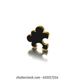 puzzle icon,sing,3D illustration
