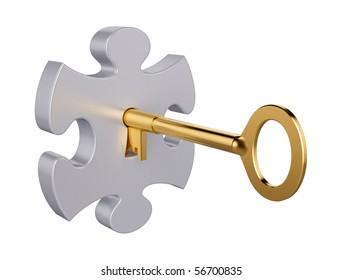 Puzzle key