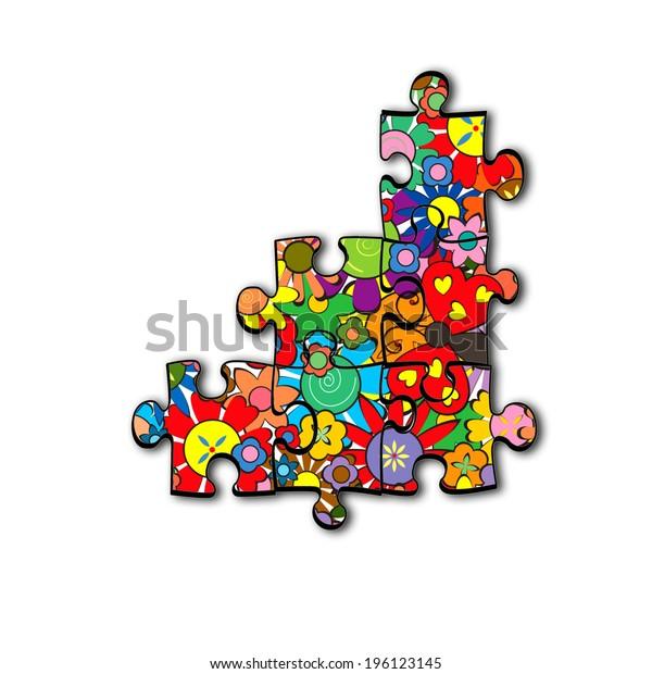 Puzzle Pieces - Flowers