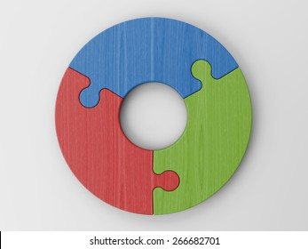 puzzle pieces to place your concepts with clipping path