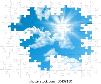 puzzle pieces from the sky