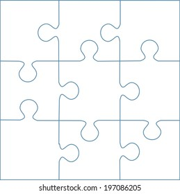 puzzle template 9 pieces vector stock vector royalty free
